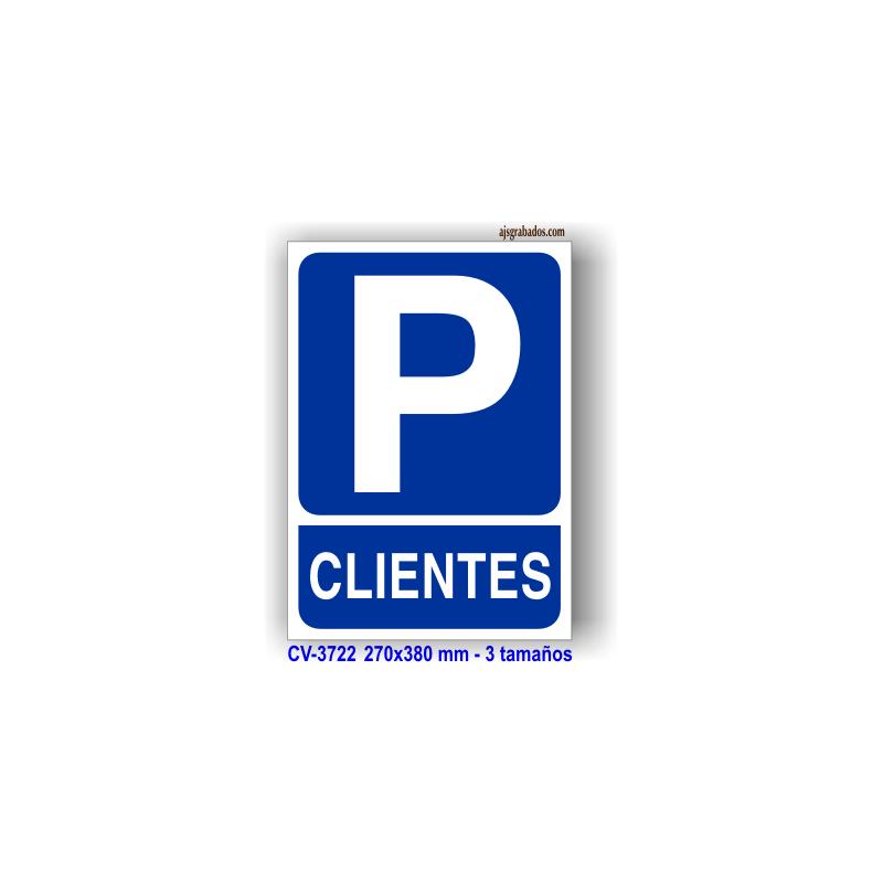 Placa se al r tulo parking clientes y pictograma aluminio - Placas vitroceramicas medidas especiales ...