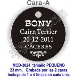 Placa mascotas DOBLE cara