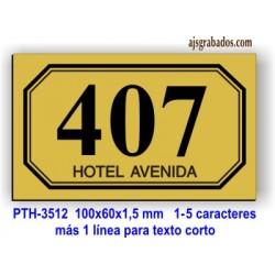 Placa habitaciones Hotel