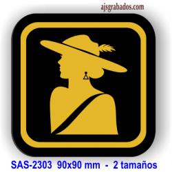 Figura femenina aseos