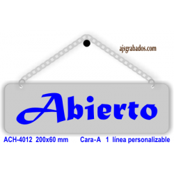 Cartel Abierto-Cerrado