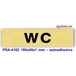 Placa standard rotulada