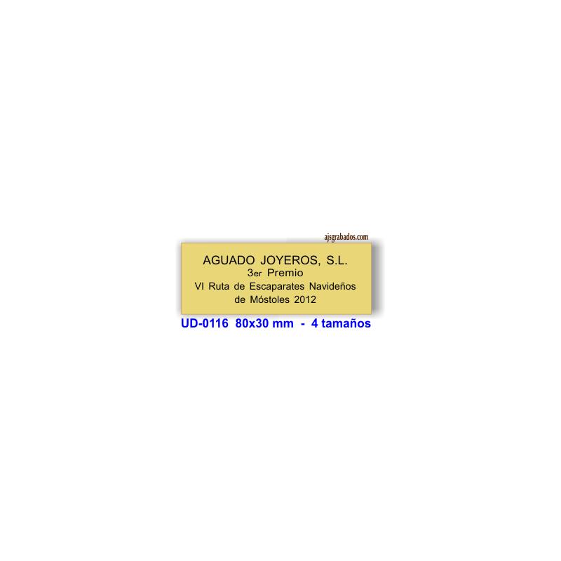 Placa para trofeos aluminio plata y oro satinado a medida - Placas vitroceramicas medidas especiales ...