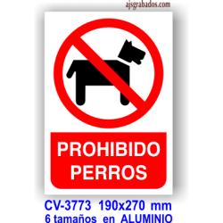 Placa prohibido perros