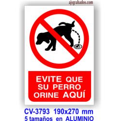 Prohibido orinar perros