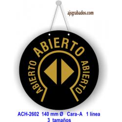 Placa Abierto-Cerrado en círculo