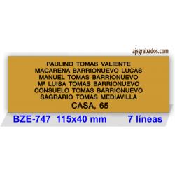 Placa buzón metallex formato grande