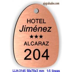 Placa llavero para Hotel