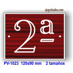 Placa numeración plantas