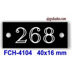 FICHA numeración butacas