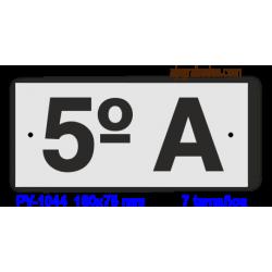 Placa grabada para PISOS