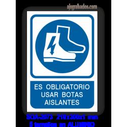 Señal OBLIGATORIO usar botas aislantes