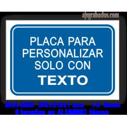 Placa para PERSONALIZAR con texto