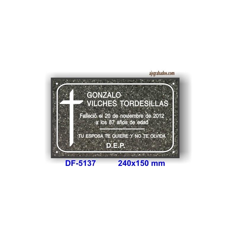 Placa para difuntos en granito acrilico espesor 13 mm 7 - Placas vitroceramicas medidas especiales ...