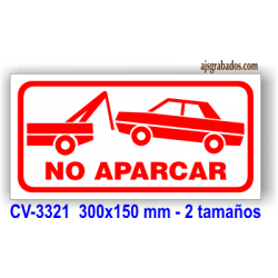 Cartel no aparcar