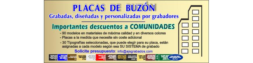 - INFORMACIÓN y AYUDA ------------ Las placas de buzón las Diseña y GRABA personal Especializado