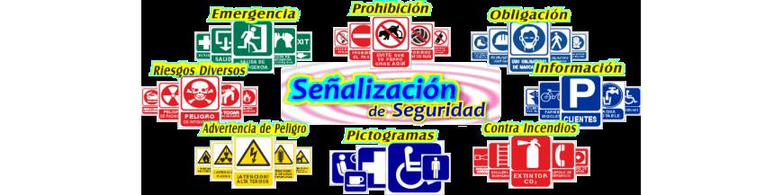 Placas para la SEÑALIZACIÓN de Seguridad y Pictogramas