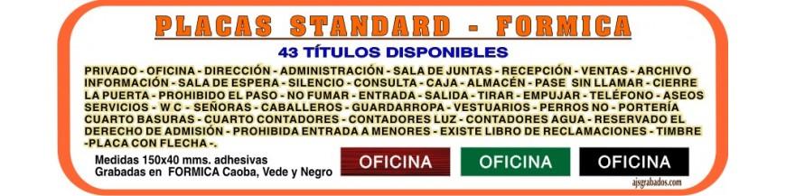 - FORMICA placas grabadas Standard 43 títutos